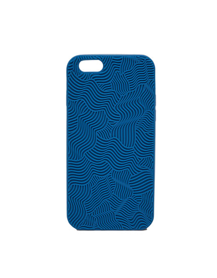 Embossed wavy mobile phone case