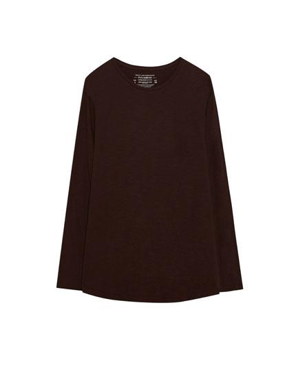 Long fit basic T-shirt