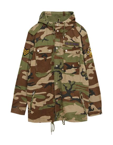 Lightweight camouflage parka