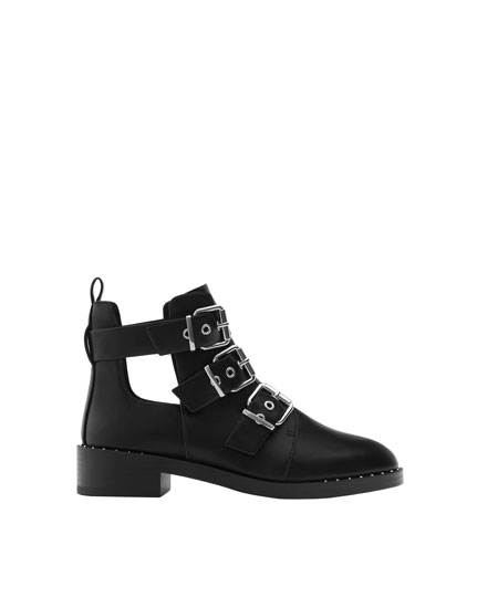 Flat fashion ankle boots