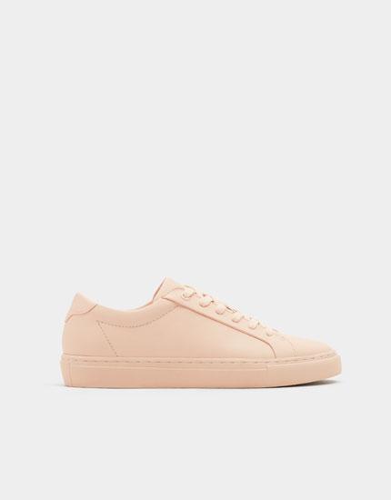 Pink monochrome studio sneakers