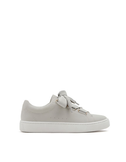Grey fashion lace-up sneakers