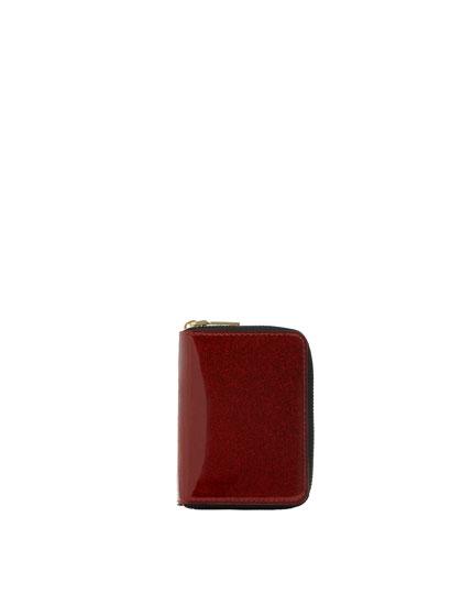 Shiny red purse
