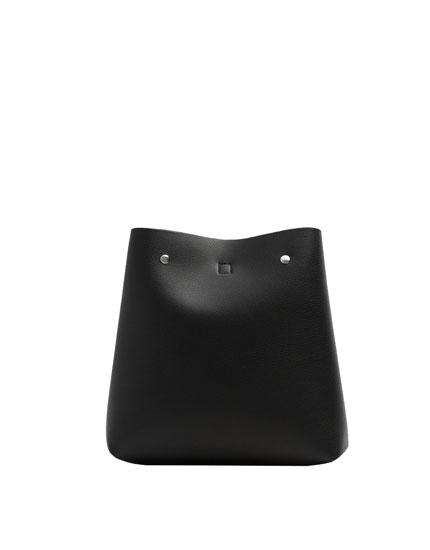 Black urban fashion backpack