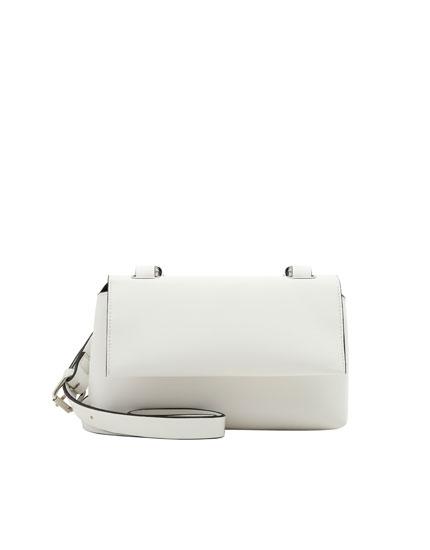 White urban crossbody bag