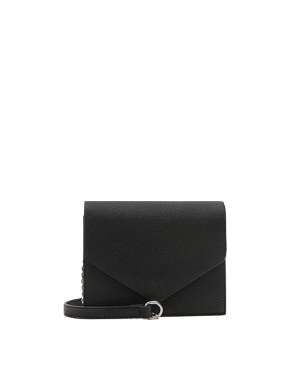 Basic black crossbody bag