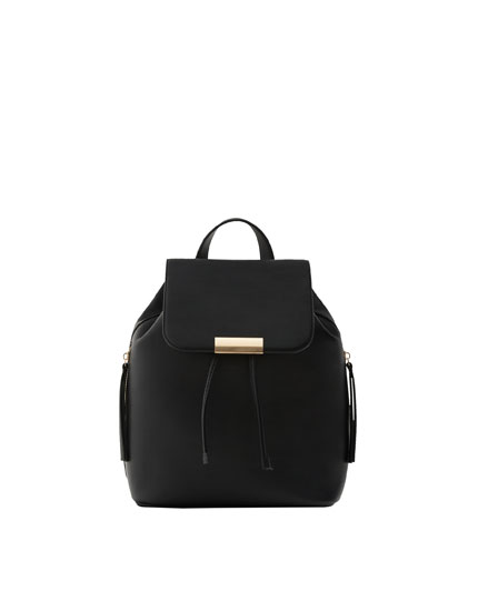 Backpack with zip details