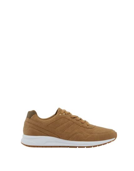 Tan retro sneakers