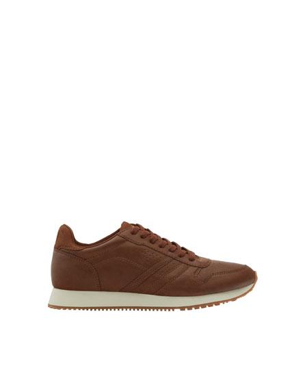 Brown retro sneakers