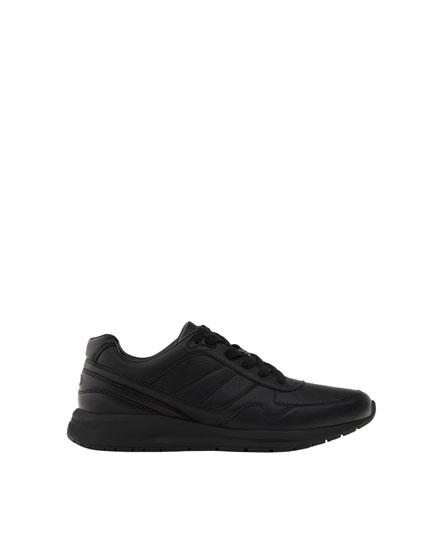 Black retro sneakers