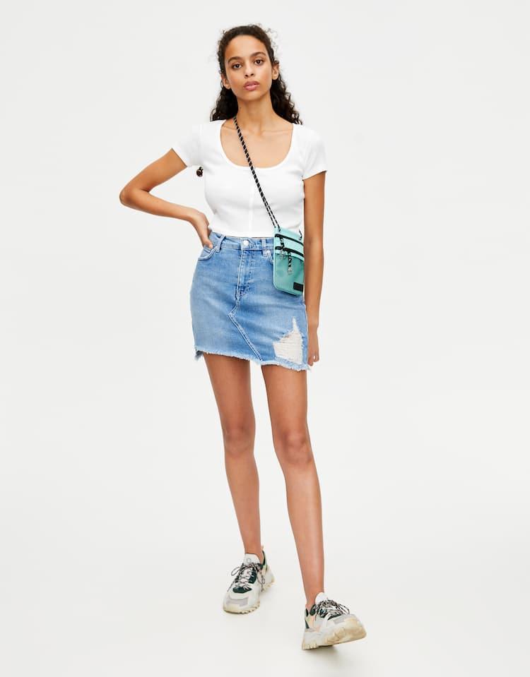 78f755959fe23 Découvre les dernières jupes mode pour femme | PULL&BEAR