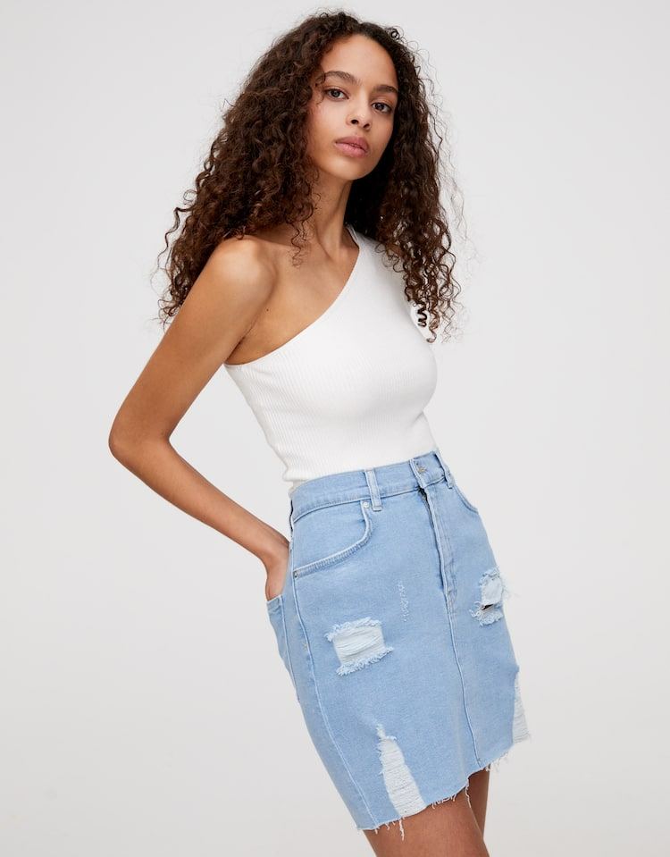 3481290a0da6a9 Discover the latest in Women's Trendy Skirts   PULL&BEAR