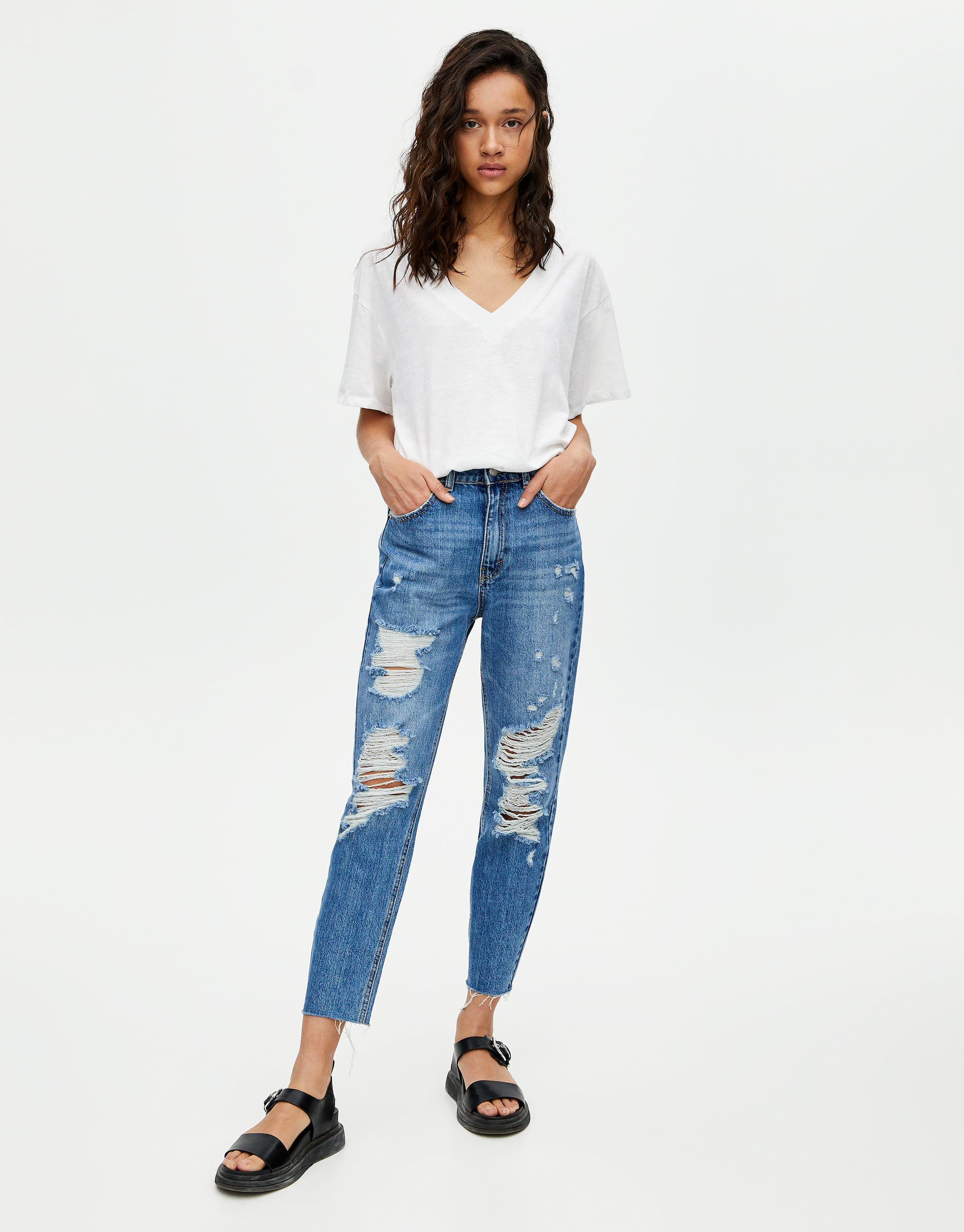 super service best promo codes Ripped mom jeans