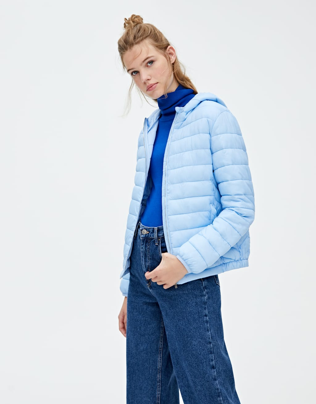 Basic Hooded Puffer Jacket by Pull & Bear