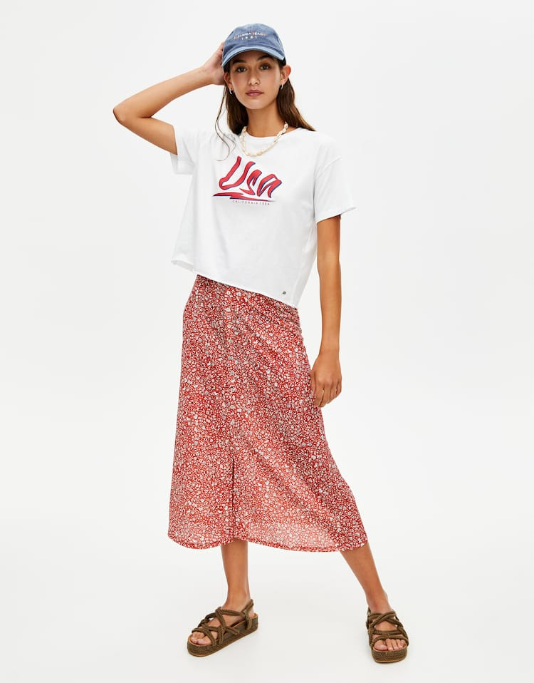 60a1fc5fcee2 Discover the latest in Women's Trendy Skirts | PULL&BEAR