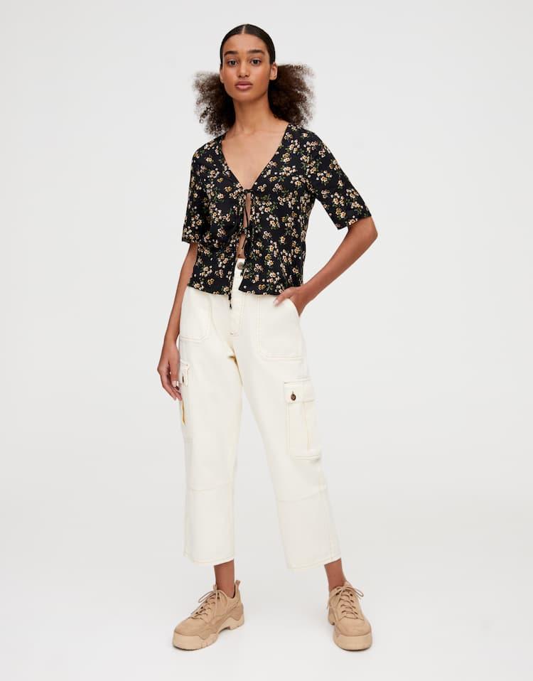 outlet store ccc9c 99bbd Camicie e bluse a maniche lunghe da donna | PULL&BEAR