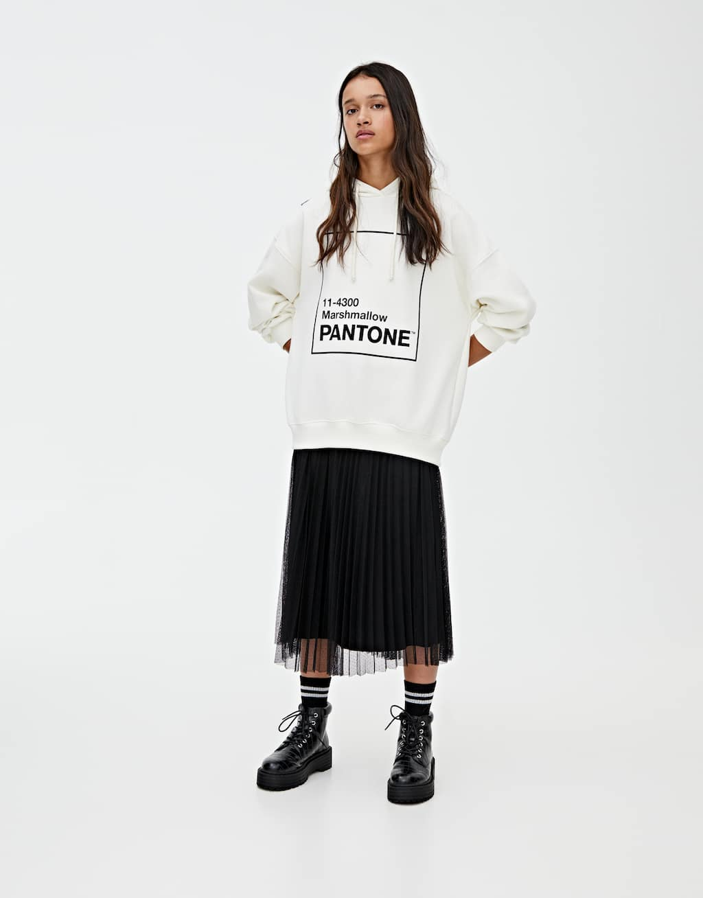Sweatshirt Pantone Marshmallow by Pull & Bear