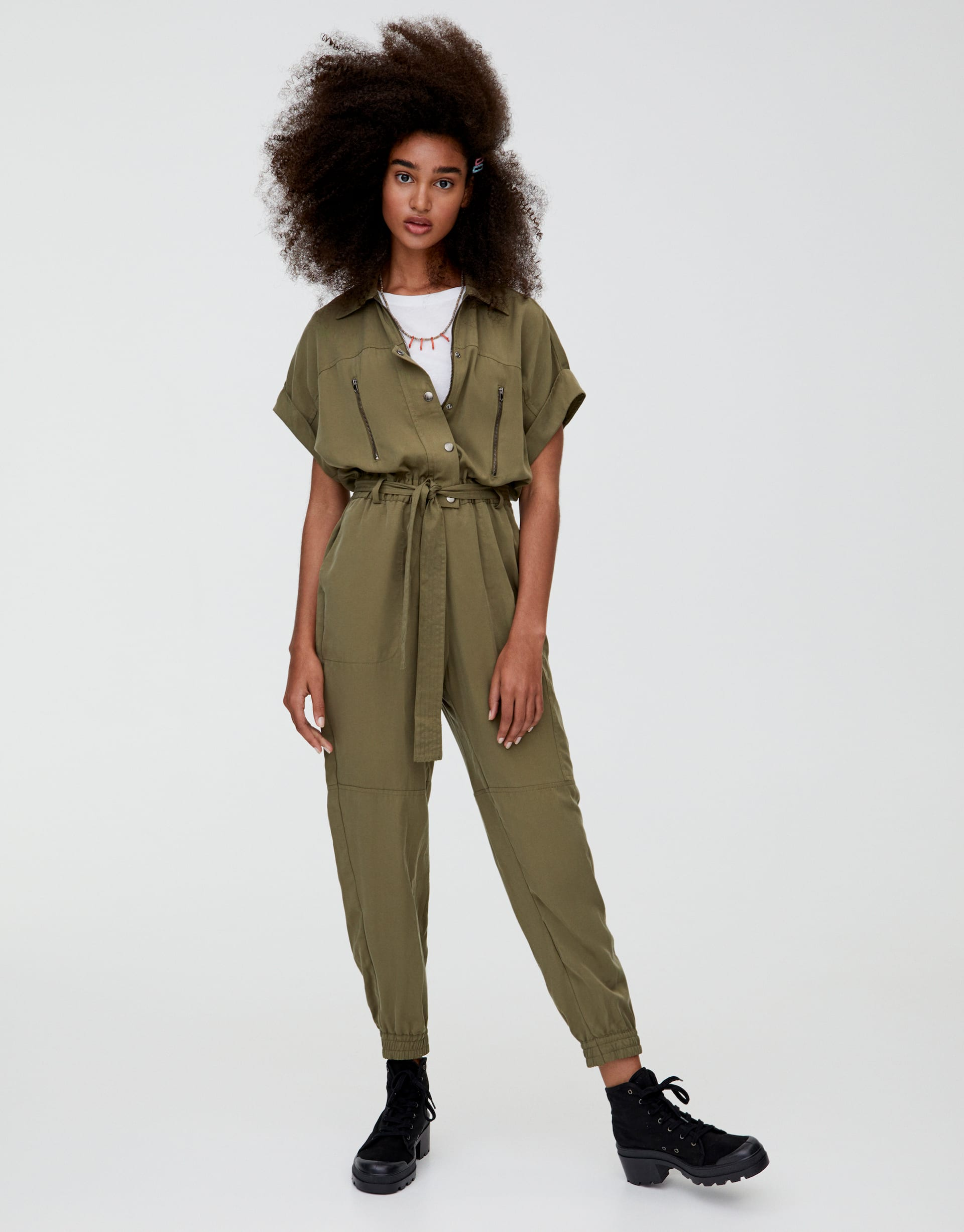 compare price distinctive design best quality for Utility jumpsuit with pockets