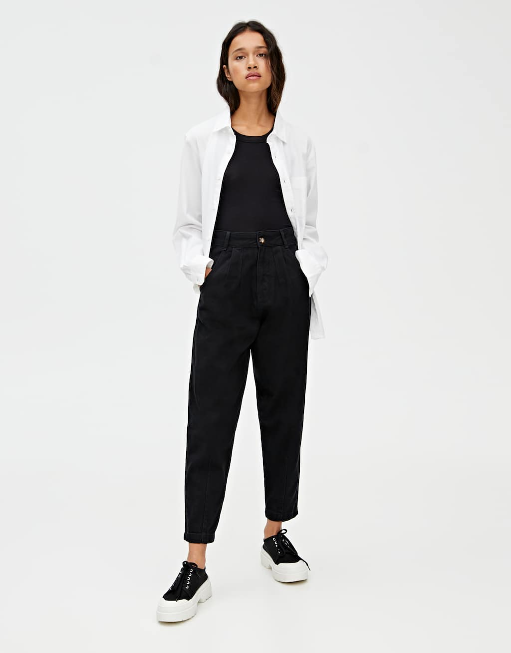 Basic Black Slouchy Jeans by Pull & Bear