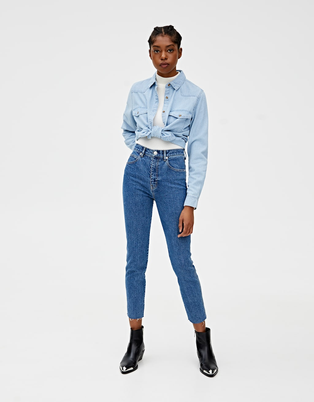Jeans Slim Mom Décontracté Couleur by Pull & Bear