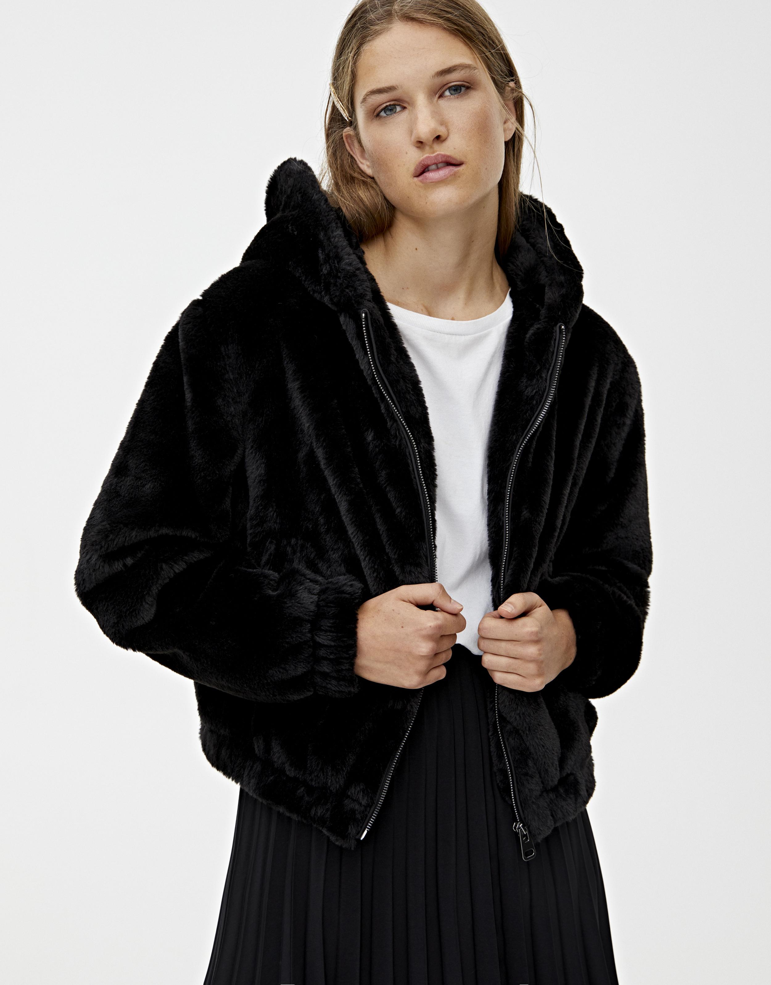 Veste cuir femme agneau noir