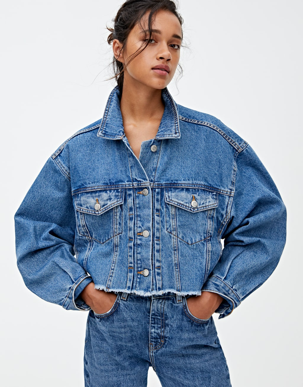 Cazadora Vaquera Oversize Cropped by Pull & Bear
