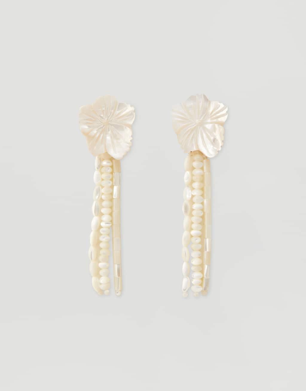 Перламутровые серьги «Цветы» by Pull & Bear