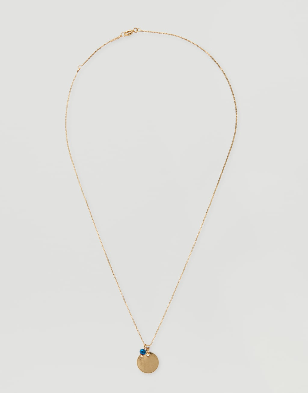 Metallic Plate Necklace by Pull & Bear
