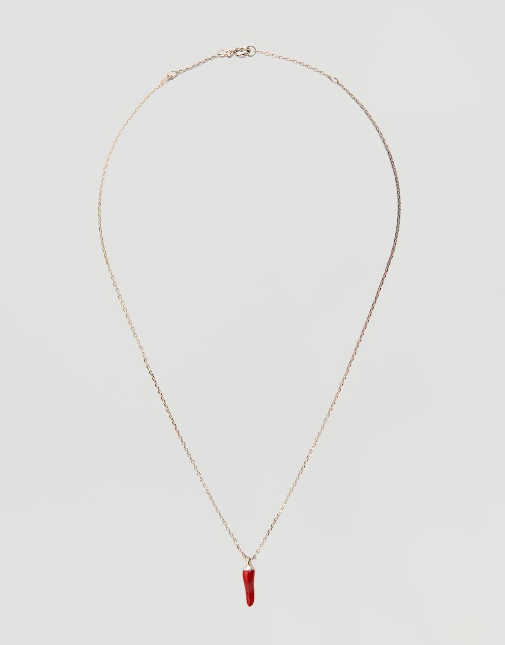 Металлическая цепочка с подвеской «Перец» by Pull & Bear