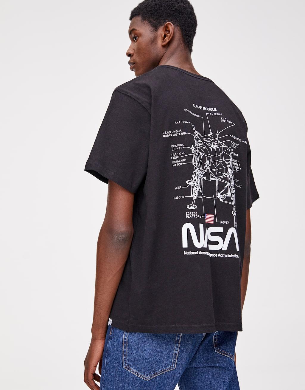 Koszulka Nasa Z Krótkim Rękawem by Pull & Bear