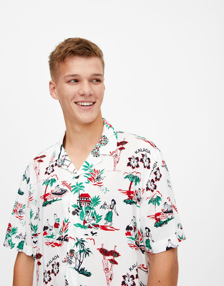 5378cd9361 Discover the latest in Men's Shirts | PULL&BEAR