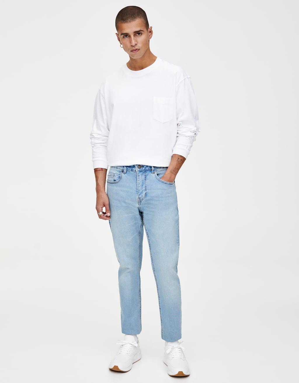Jeans Slim Conforto Fit Em Azul Médio by Pull & Bear