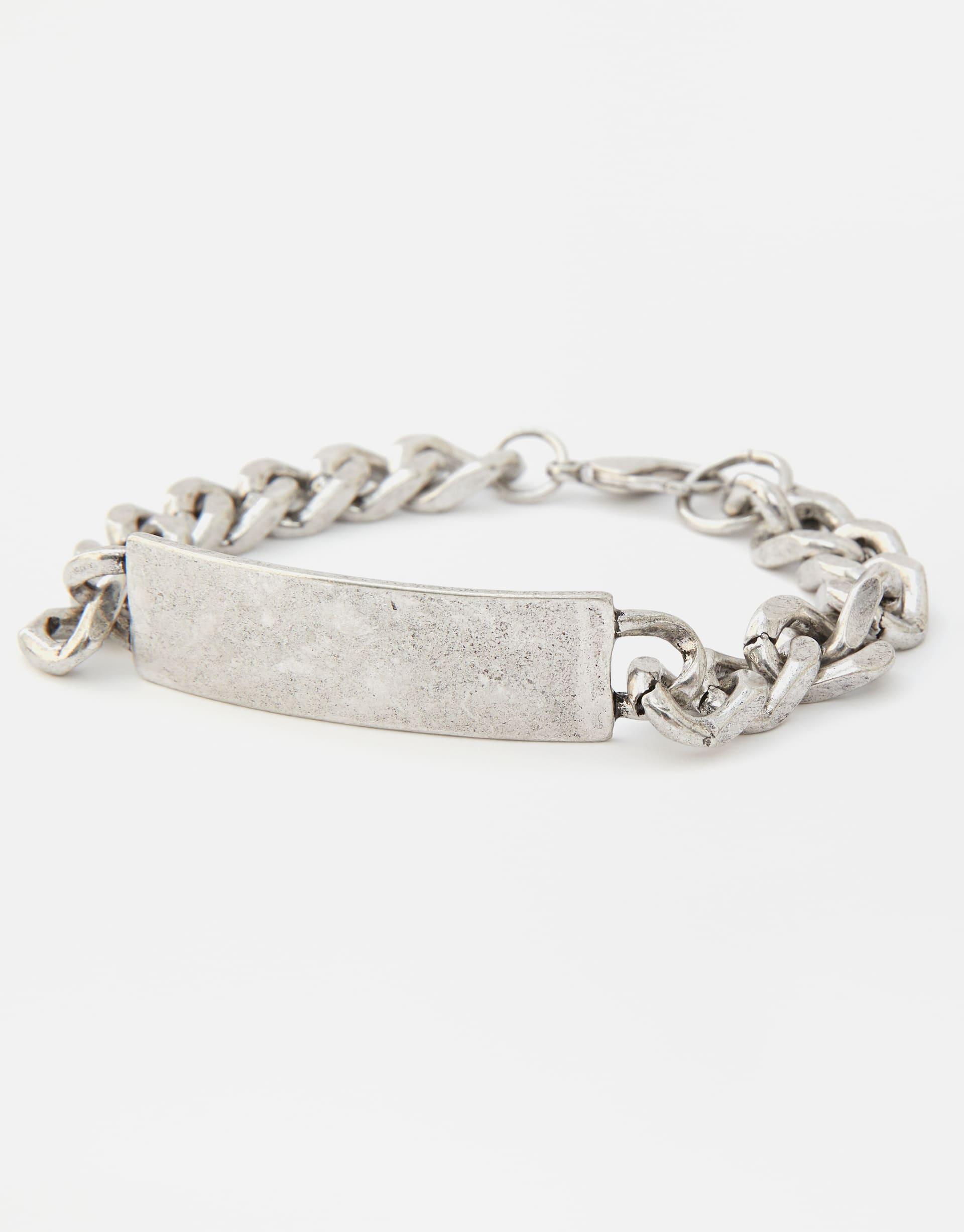 93336b069299b Silver chain link bracelet