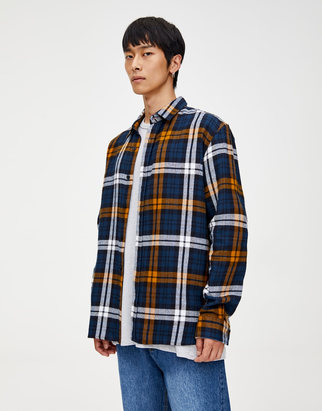 Chemise Carreaux Flanelle Manches Longues by Pull & Bear