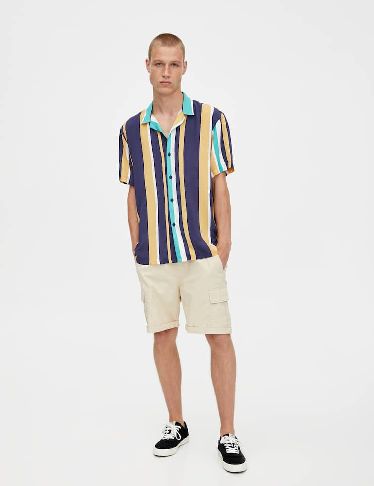 7a9f710d0efcd7 Discover the latest in Men's Shirts | PULL&BEAR