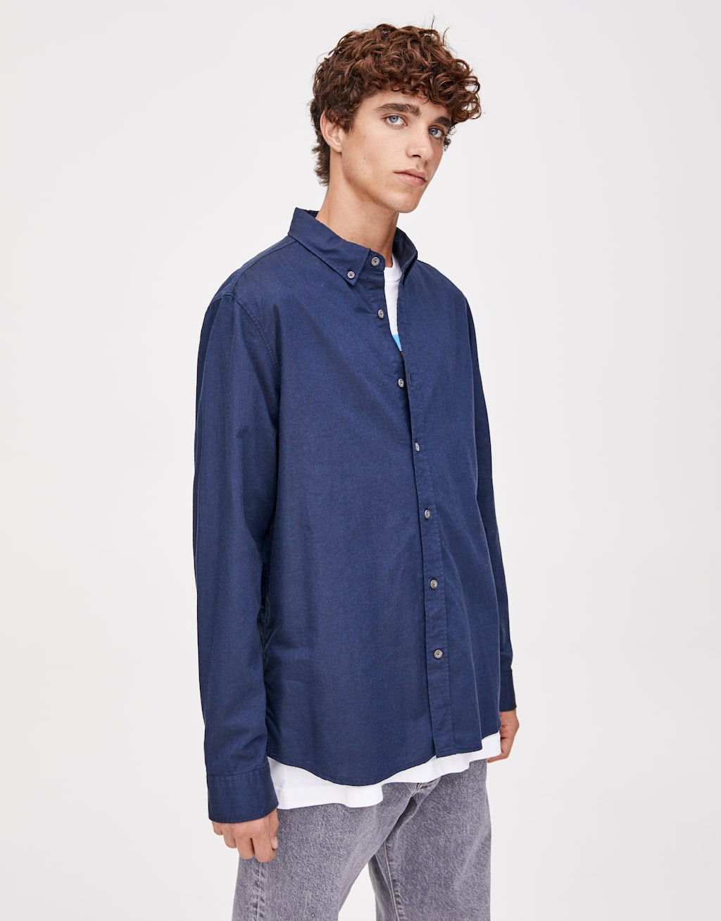 Camisa Oxford Básica by Pull & Bear