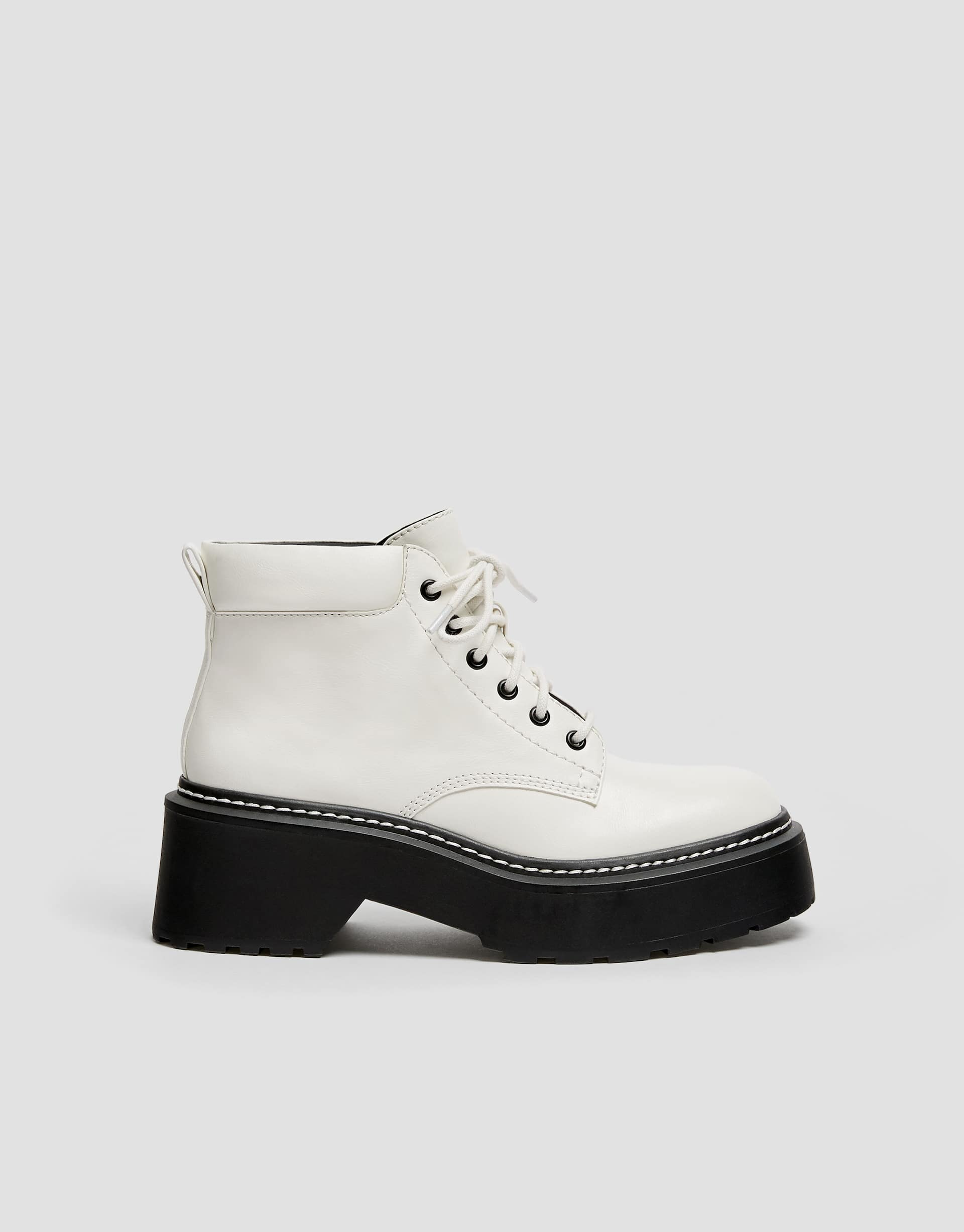 568d5126868 White fashion ankle boots - pull&bear