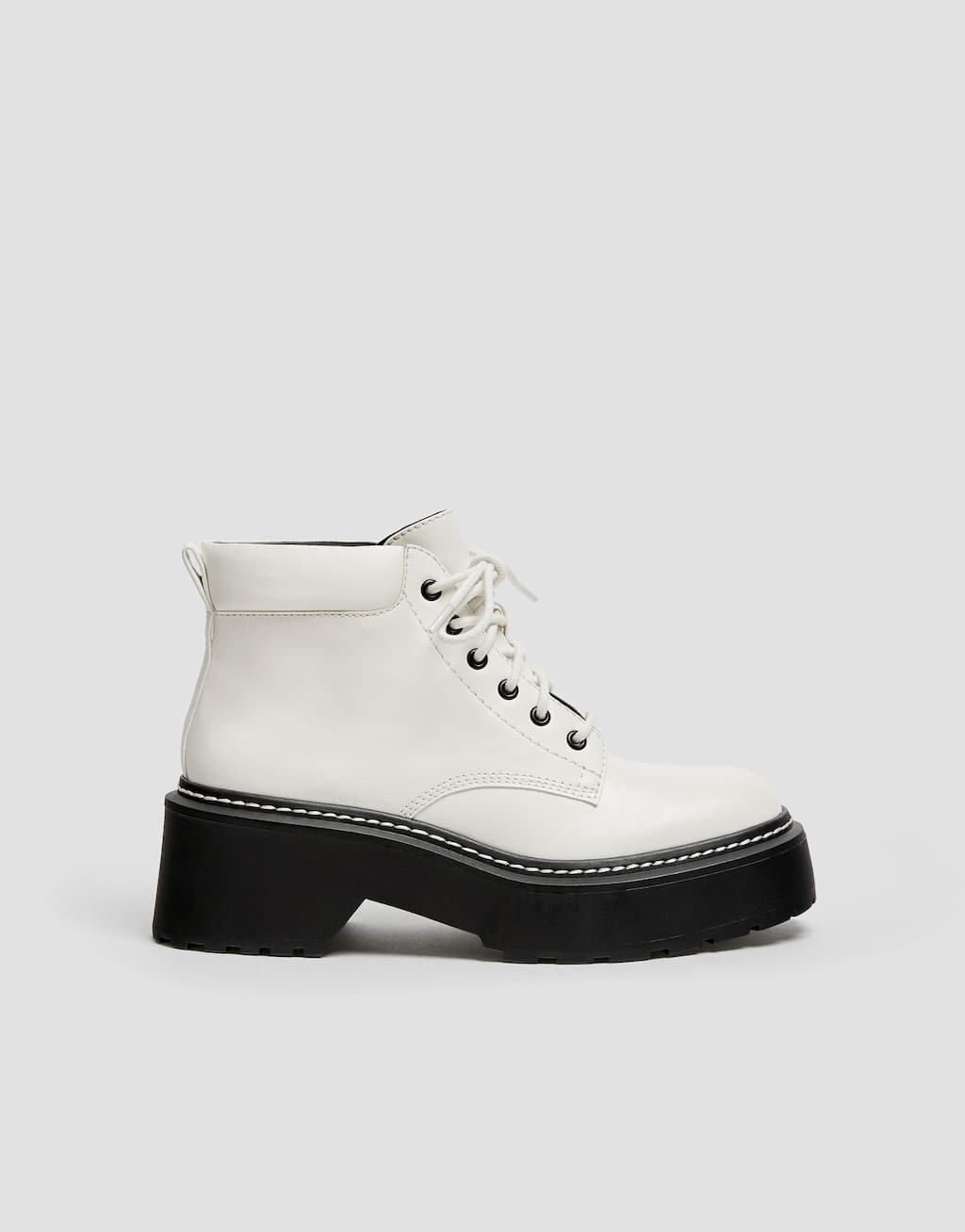 Modische Stiefeletten In Weiß by Pull & Bear
