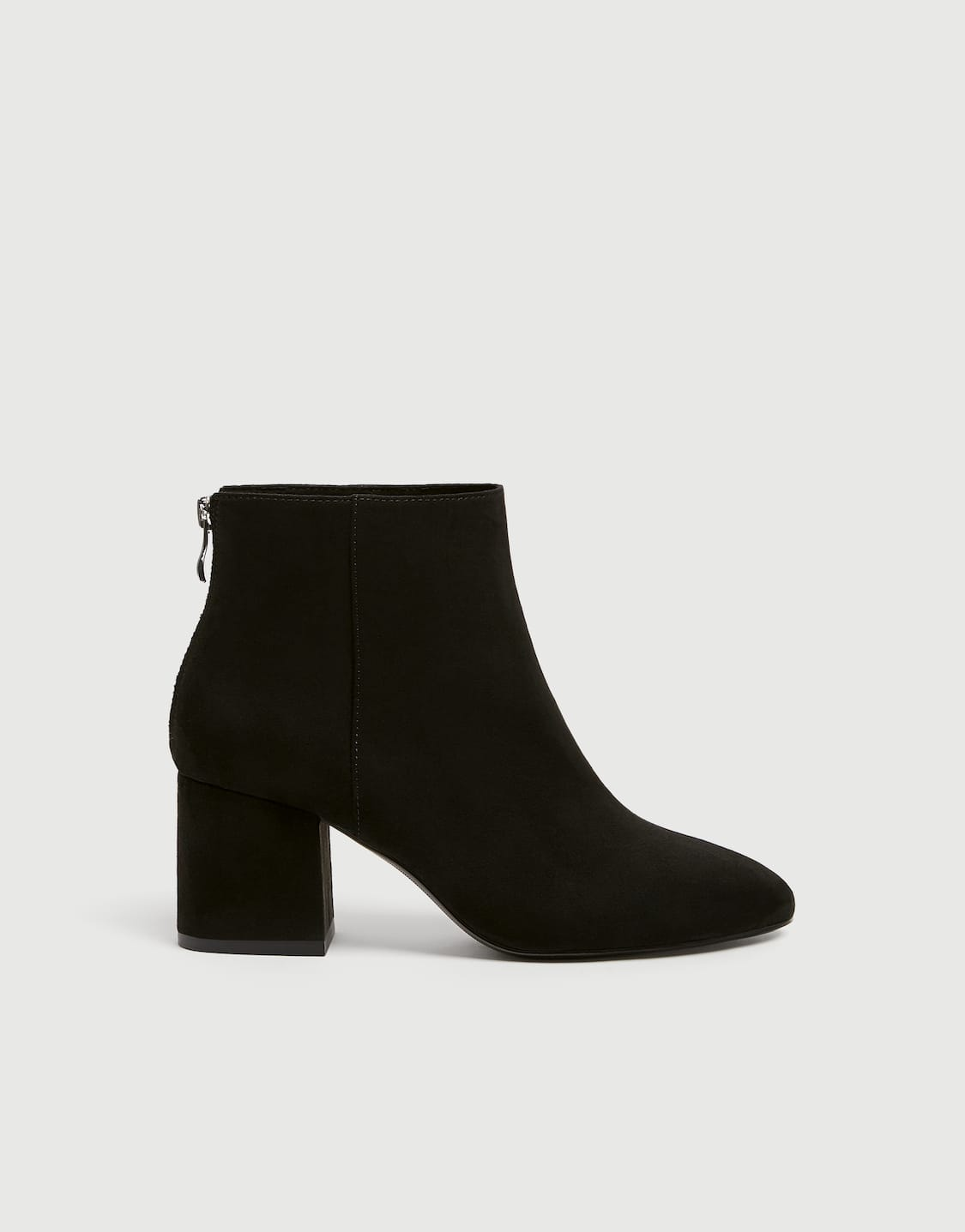 best authentic good service low price sale Basic black mid-heel ankle boots - PULL&BEAR