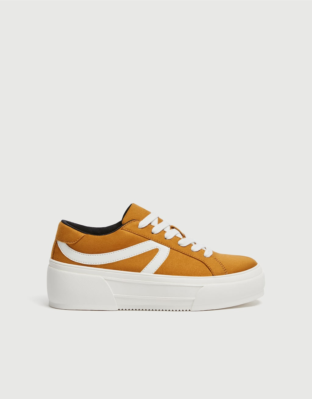 Mustard Yellow Platform Trainers by Pull & Bear
