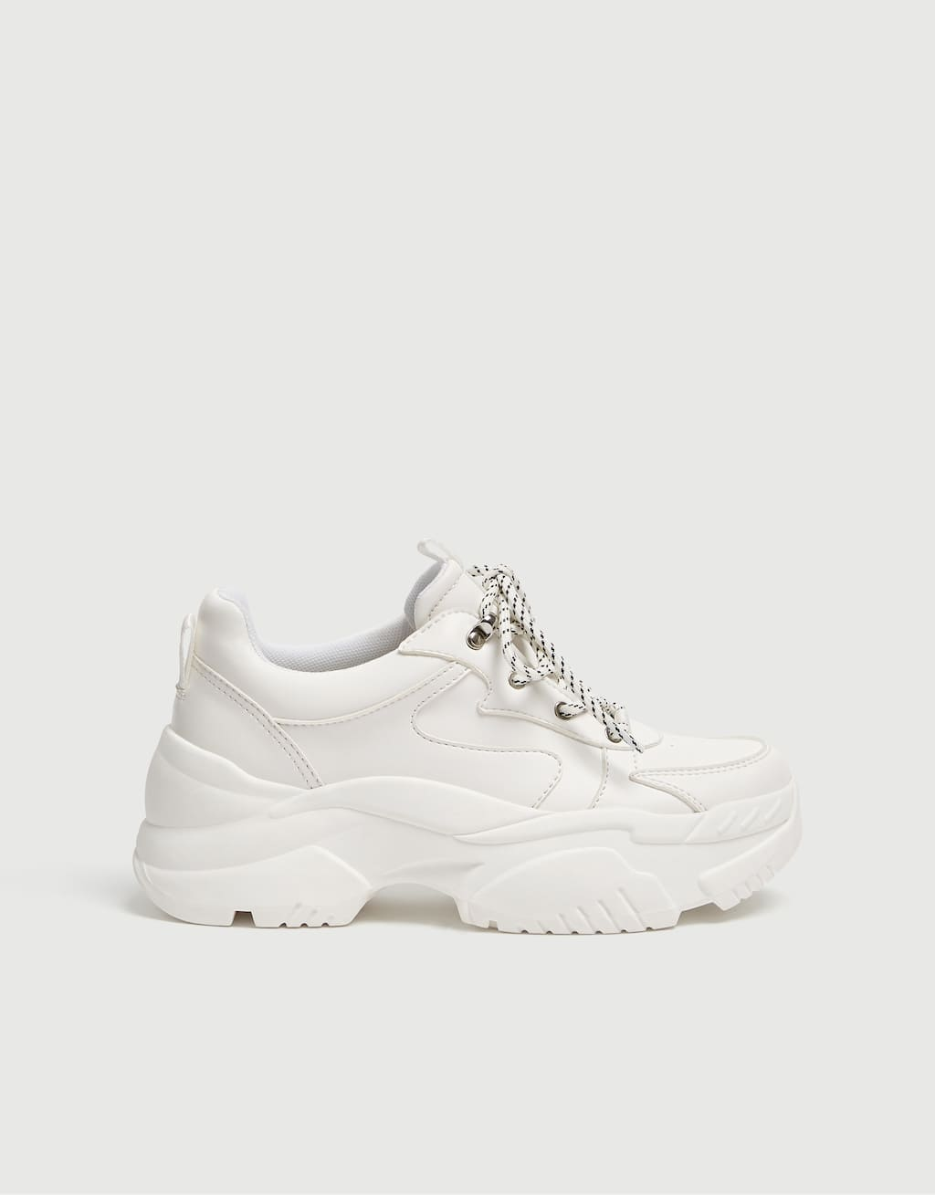 Tenis White Bloque by Pull & Bear