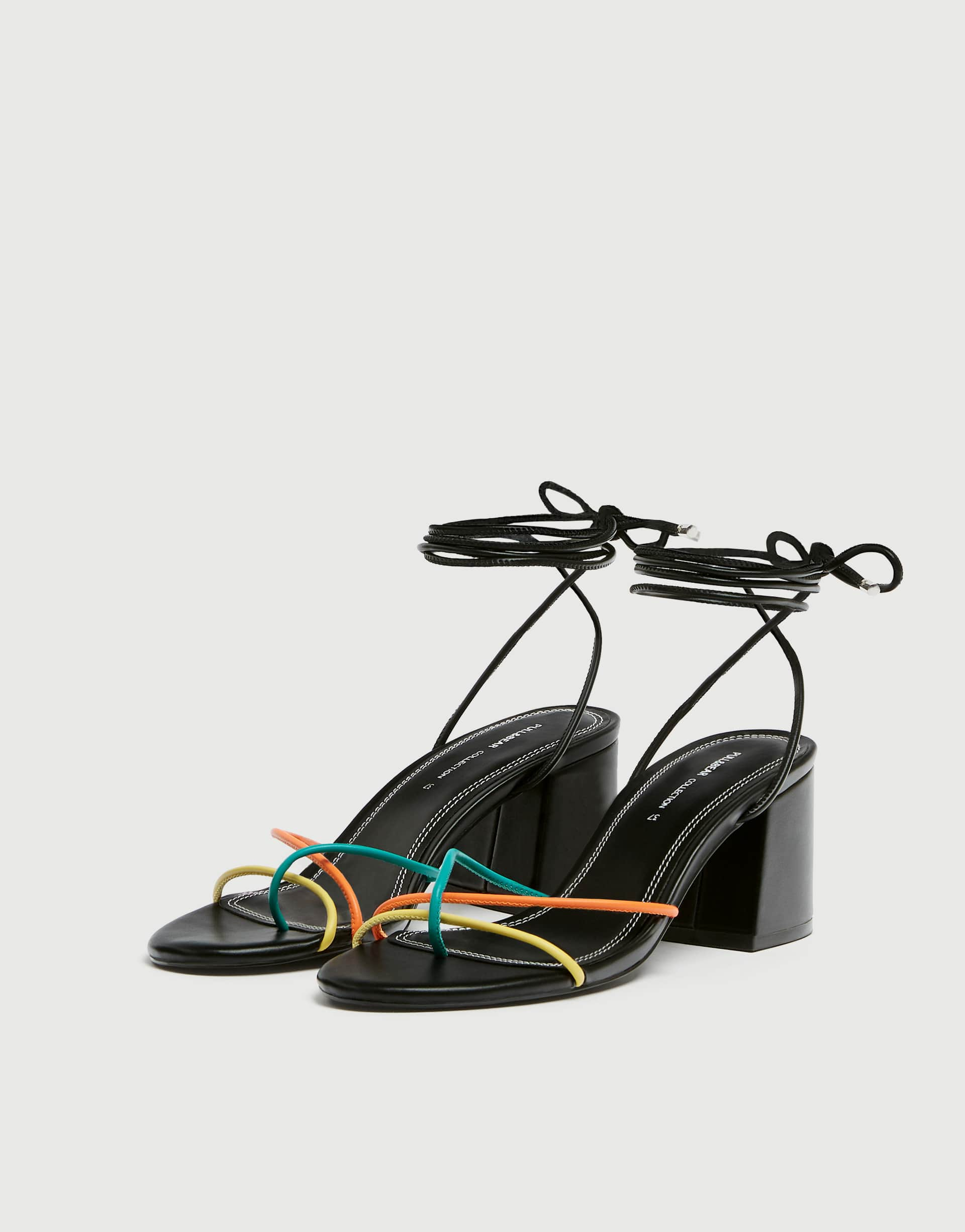 31f31ae8083 Strappy high-heel sandals - pull&bear
