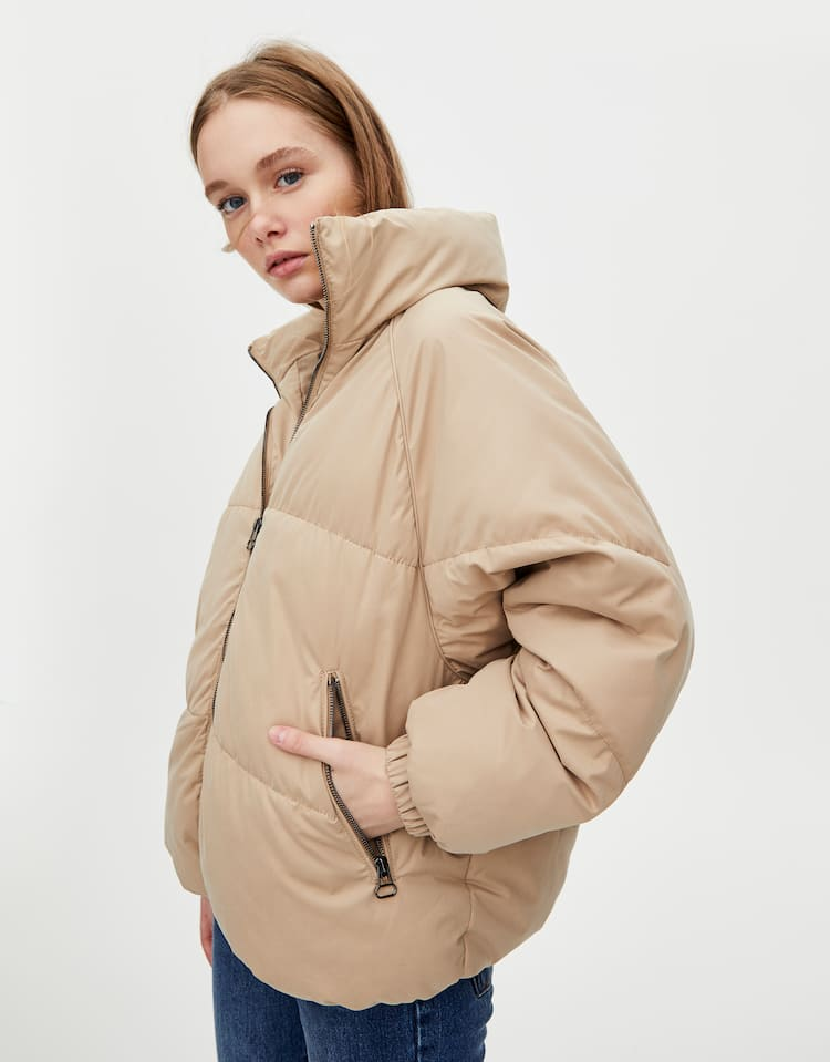 9babe013c003e Puffer jackets - Coats and jackets - Clothing - Woman - PULL BEAR ...