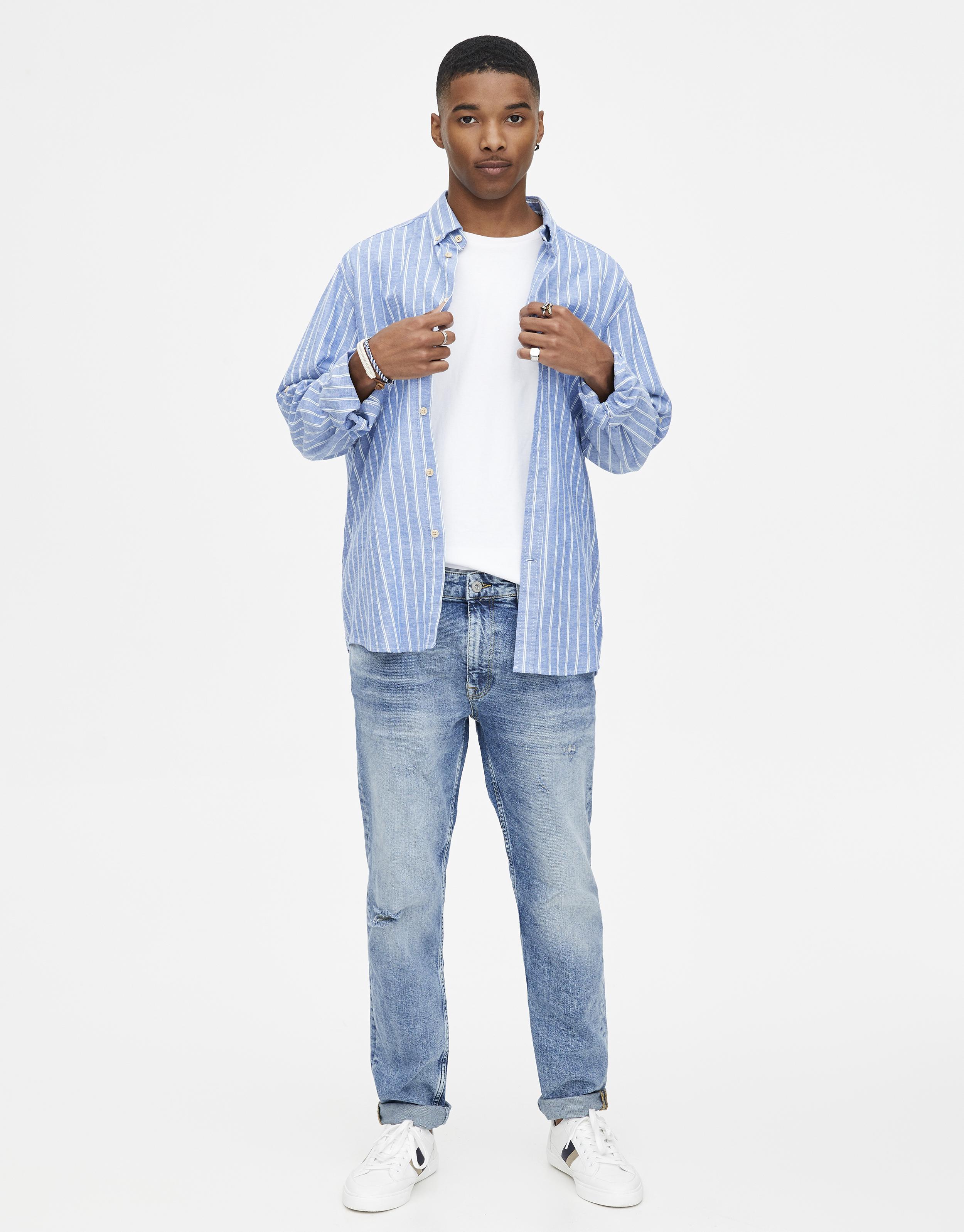 Men's Spring Summer Slim Fit amp;bear Jeans 2019Pull L35qj4AR