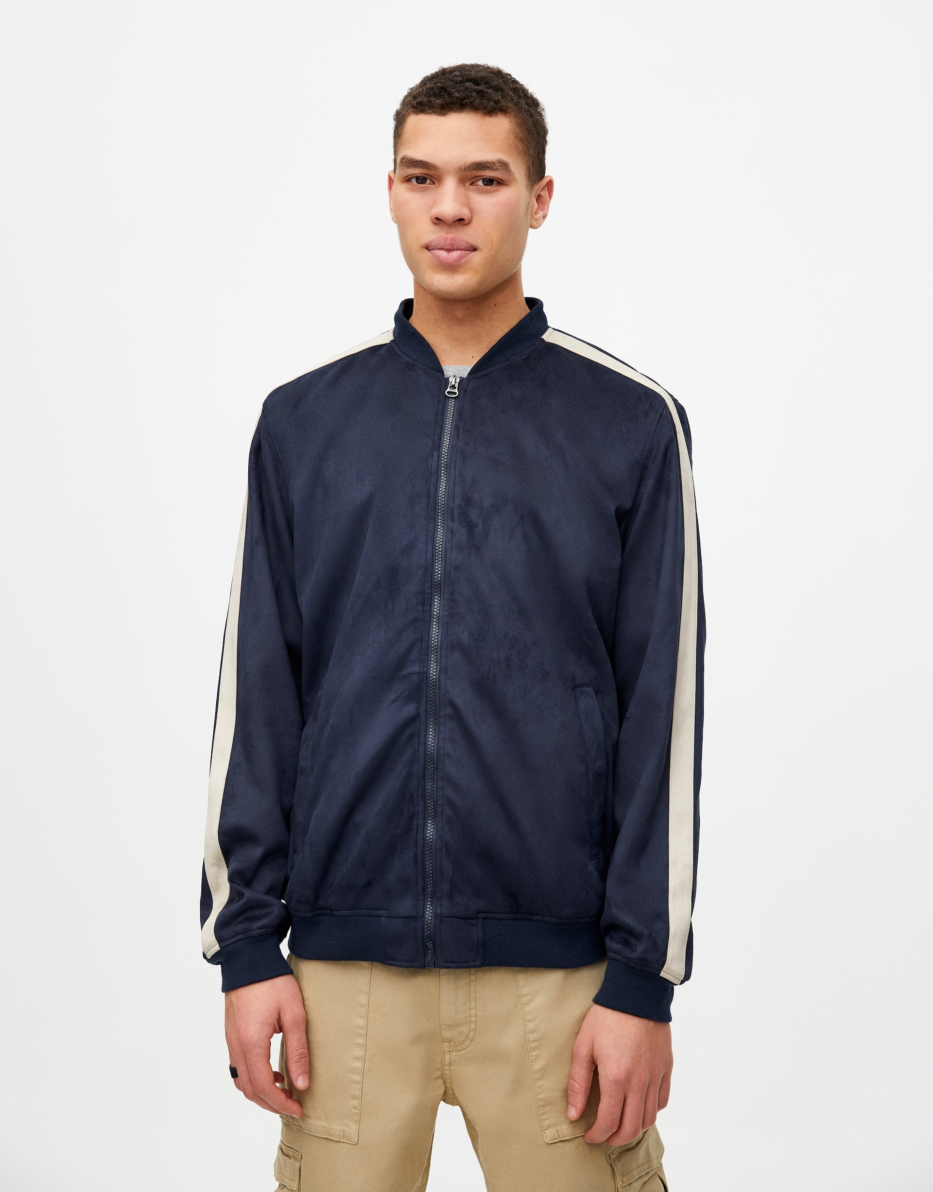 f587b1df4 Faux suede bomber jacket - pull&bear