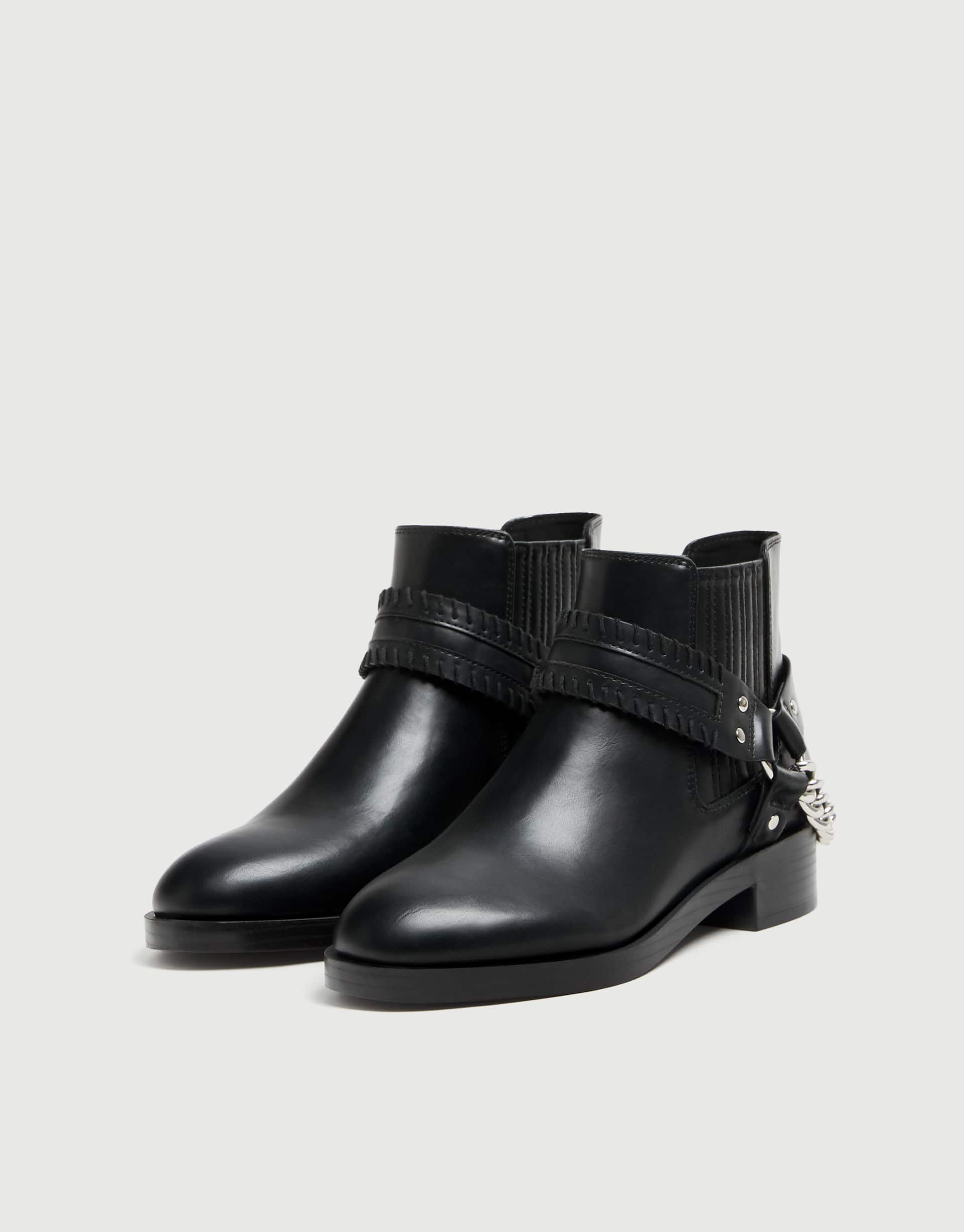 9494dbd1425 Ankle boots with chain detail