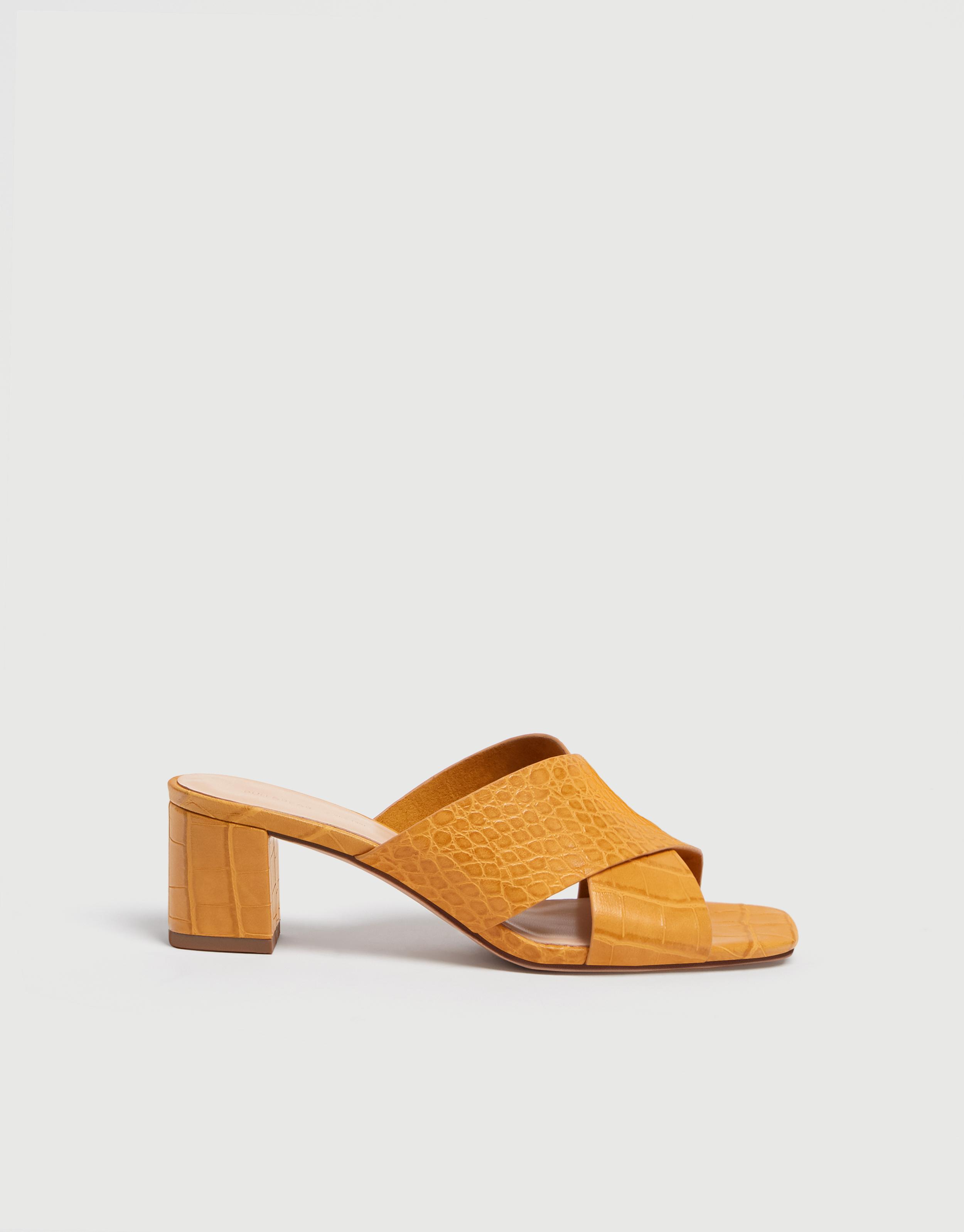 Mock Sandals Mule Mule Croc Mock Croc Heeled Sandals Heeled lF1Jc3KT
