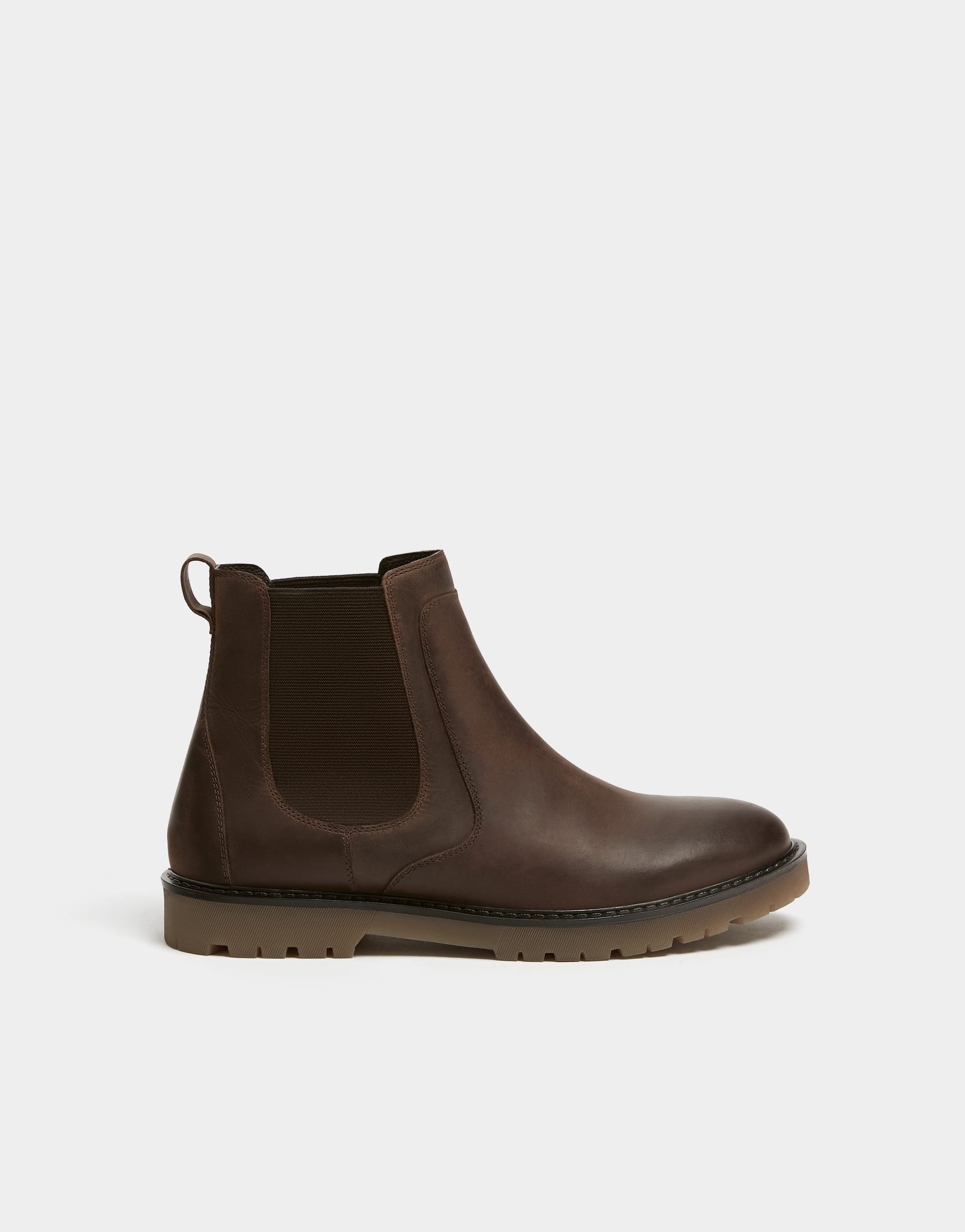 cca13a62fad Brown leather and elastic boots