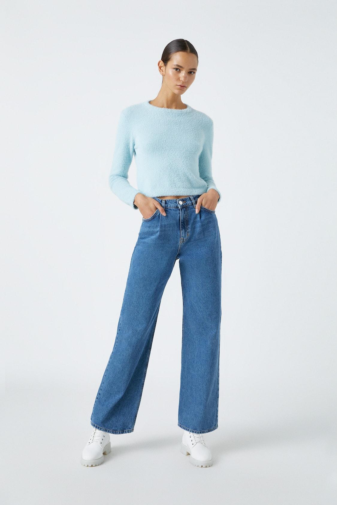 Jeans Rectos Tiro Alto Pull Bear