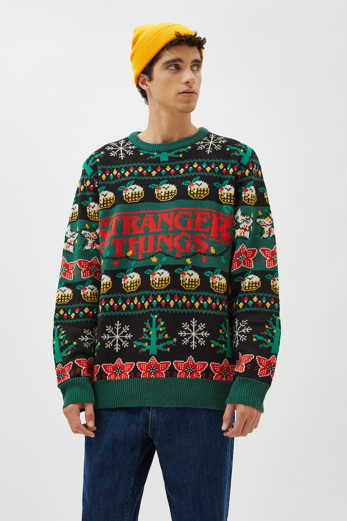للتفاعل فارغ الرسوم Stranger Things Sweater Cabuildingbridges Org